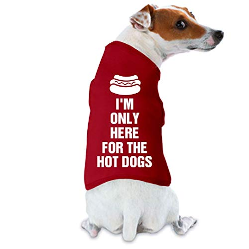 Customized Girl July 4th Hot Dog: Film & Foil Small Breed Dog Tank Top