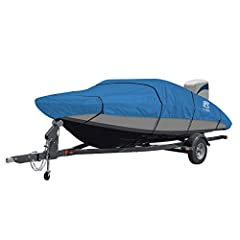 The Stellex Trailerable Boat Cover by Classic Accessories provides superior protection regardless of your climate. Whether you're traveling down the highway or storing at home, you can count on fade-resistant UV protection that lasts. This be...