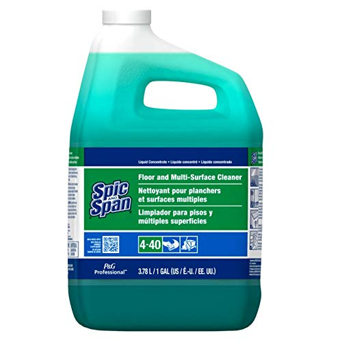 Floor and Multi-Surface Concentrate Cleaner from Spic and Span Professional, Bulk Cleaner for Kitchen, Bathroom and Unwaxed Wood Floor Uses, 1 Gal. (Case of 3)