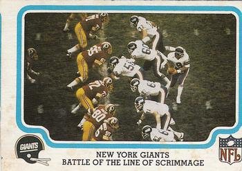 1979 Fleer Team Action (Football) card#35 Battle of the Line of Scrimmage of the New York Giants Grade -