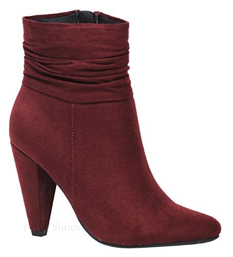 MVE Shoes Women's Fashion Comfortable Thin Heel-Walking Ankle Booties, Dressup VINO ISU 10