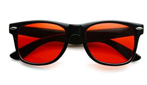 [Retro Style Sunglasses Classic 80s Style Design (Black, Red)] (80s Style Men)