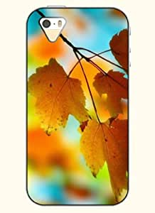 OOFIT Phone Case Design with Autumn Leaves for Apple iPhone 5 5s 5g