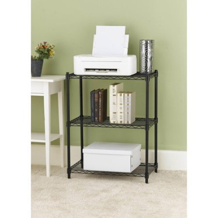 Work Choice 3-Tier Shelving, Black by Easy@Home