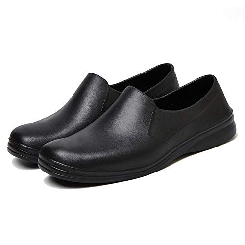 bcf506d972c8 MAX MEMBER Men Chef Shoes Waterproof Anti-Slip Oilproof Kitchen Restaurant  Food Service Male Black Wearable Cook Safety Work Shoes  Black