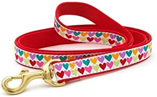 product image for Up Country Heart and Valentine Patterns Dog Collars and Leashes (Pop Hearts Dog Leash, 4 Foot Long 1 Inch Wide Width)