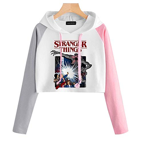 Silver Basic Girls Stranger Things Support Fashion Cool T-Shirt Set Short Sleeve Crop Top Fan Tee with Shorts