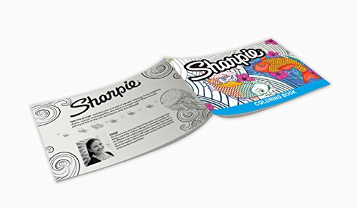 Sharpie 1989554 Permanent Markers, 10 Fine & 10 Ultra-Fine Tip, Assorted Colors with Aquatic-Themed Adult Coloring Book by Sharpie (Image #5)