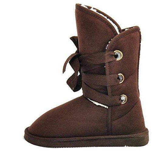 Women Winter Warm Diamond Flower Fur Ankle Snow Boots Fashion Comfort Flat Shoes Coffee wb8BYq