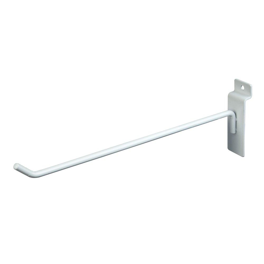 Econoco 10'' Slatwall Deluxe Hooks, Slatwall hooks, Display Hooks For Panel, White (Pack of 96)