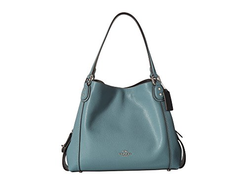 COACH Women's Pebbled Leather Edie 31 Shoulder Bag Sv/Marine One Size ()