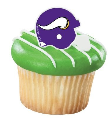 (NFL Minnesota Vikings Football Helmet Cupcake Rings - 24)