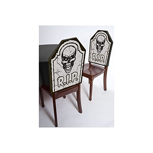[Graveyard Skull Tomb Chair Cover - Halloween Horror Party Rip Tombstone] (Kids Costumes Inflatable Hulk)