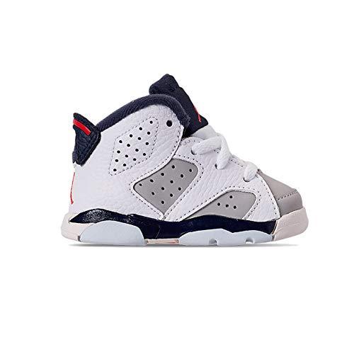 Toddler Jordan 6 Retro Tinker White/Infrared 23-Neutral Grey (5 M US - Size Jordan Toddler Shoes 5
