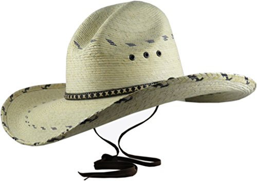 BULL-SKULL HATS Palm Leaf Cowboy Hat, Gus 508