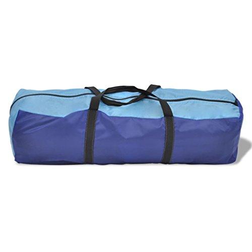 Lingjiushopping Tente de camping imperm¨¦able 6 Personnes Bleu marin/bleu clair Couleur: bleu marine/bleu clair Mat¨¦riau Tiges: fibre de verre