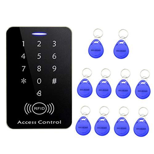 JullyeleMXgant Sistema de Control de Acceso RFID Profesional Seguridad Entrada Cerradura de la Puerta Fuerte...