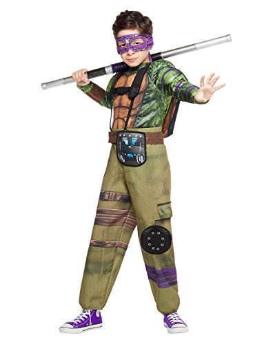 Kids Donatello Costume Teenage Mutant Ninja Turtles: Out of the Shadows,Green,L -