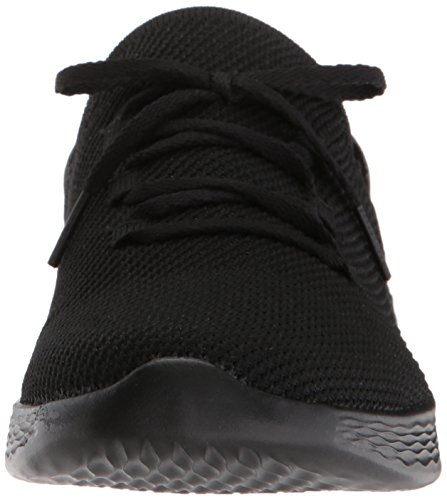 Baskets Enfiler Bbk spirit Femme You Noir Skechers black qxRE4t0
