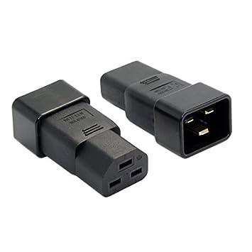 chenyang IEC320 C20 a C21) C19 PDU UPS de extensión macho a hembra adaptador de alimentación de 10 a 250 V: Amazon.es: Electrónica