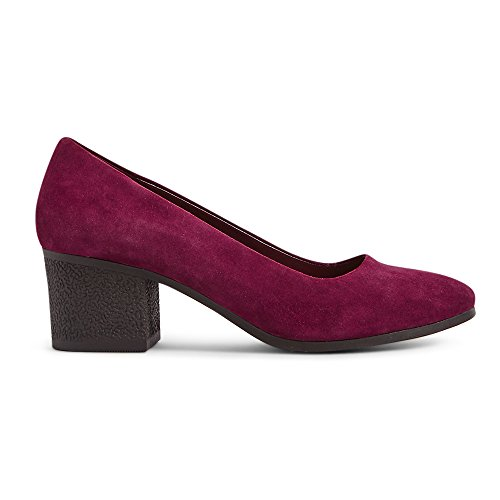 Marks & Spencer Footglove T028302 Leather T028302A Suede Block Heel Crepe Effect Court Shoes RRP £45 Mulberry Suede IpHlP3n