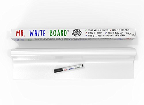 [LIFE OF THE PARTY] Dry Erase Wall Decal With Dry Erase Marker [ Life of the Party ] Over 11 Ft of Adhesive Whiteboard Turns Any Surface Into Monthly White Board Calendar or Weekly List