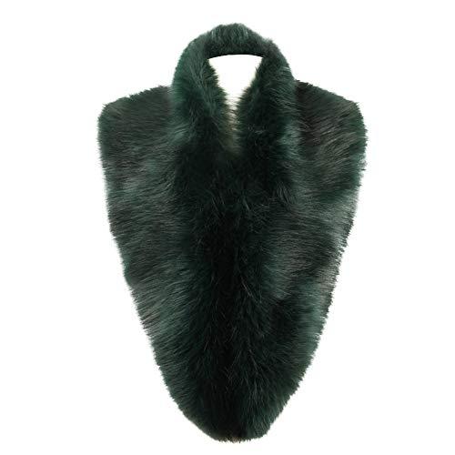 (Dikoaina Extra Large Women's Faux Fur Collar for Winter Coat (100cm, Dark)