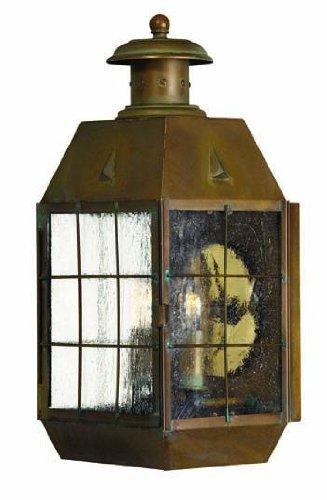 Hinkley Brass Outdoor Lighting - Hinkley 2374AS, Nantucket Outdoor Wall Sconce Lighting, 120 Total Watts, Brass