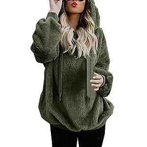 Mujer Sudadera Caliente y Esponjoso Tops Chaqueta Suéter Abrigo Jersey Mujer Otoño-Invierno Talla Grande Hoodie Sudadera… | DeHippies.com