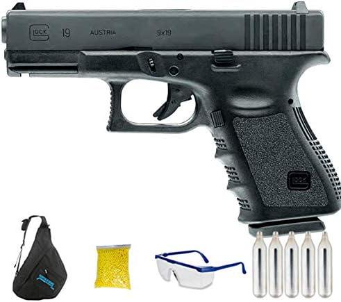 Glock 19 (Umarex | Pistola de Airsoft Calibre 6mm (Arma Aire Suave de Bolas de plástico o PVC). Sistema: CO2 <3,5J