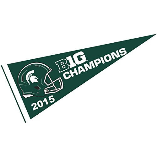 College Flags and Banners Co. MSU Spartans Big Ten 2015 Champs Pennant