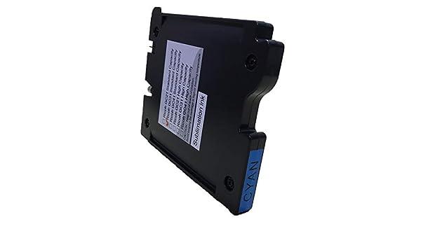 GX3000 GX3000S GX3000SF GX3000SFN GX3050N GX5050N GX7001 High-Yield KLDink Compatible GC21 GC21K GC21C GC21M GC21Y dye Sublimation Ink Replacement for Ricoh Aficio GX2500 4-Pack