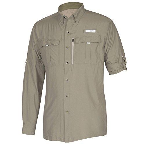 Habit TS1164 Long Sleeve Men's River Guide Fishing Shirt, Mermaid, X-Large