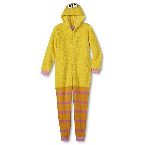 Sesame Street Adult Womens Onesie Pajama Characters Union Suit (Big Bird, -