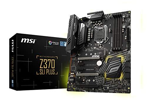 Price comparison product image MSI PRO Series Intel 8th Gen LGA 1151 M.2 DVI HDMI USB 3.1 Gigabit LAN CFX SLI ATX Motherboard (Z370 SLI PLUS)