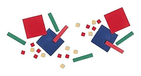 ETA hand2mind Plastic Algebra Tiles Classroom Kit - Algebra Tiles Student Set