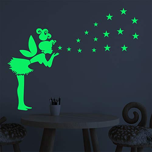Glow in The Dark Eyes Peel and Stick Wall Decals Halloween Wall Stickers Ceiling Wall -