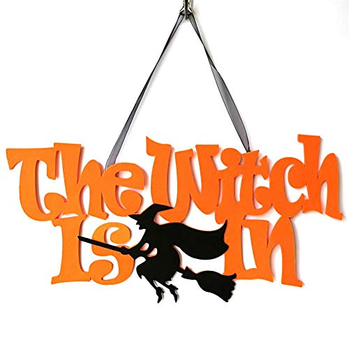 Party Diy Decorations - Halloween Hanging Door Decorations And Wall Signs Scaredy Cat Witch Pendant Garland Creative - Decorations Party Party Decorations Dress Halloween Year Curtain Flag Headba ()