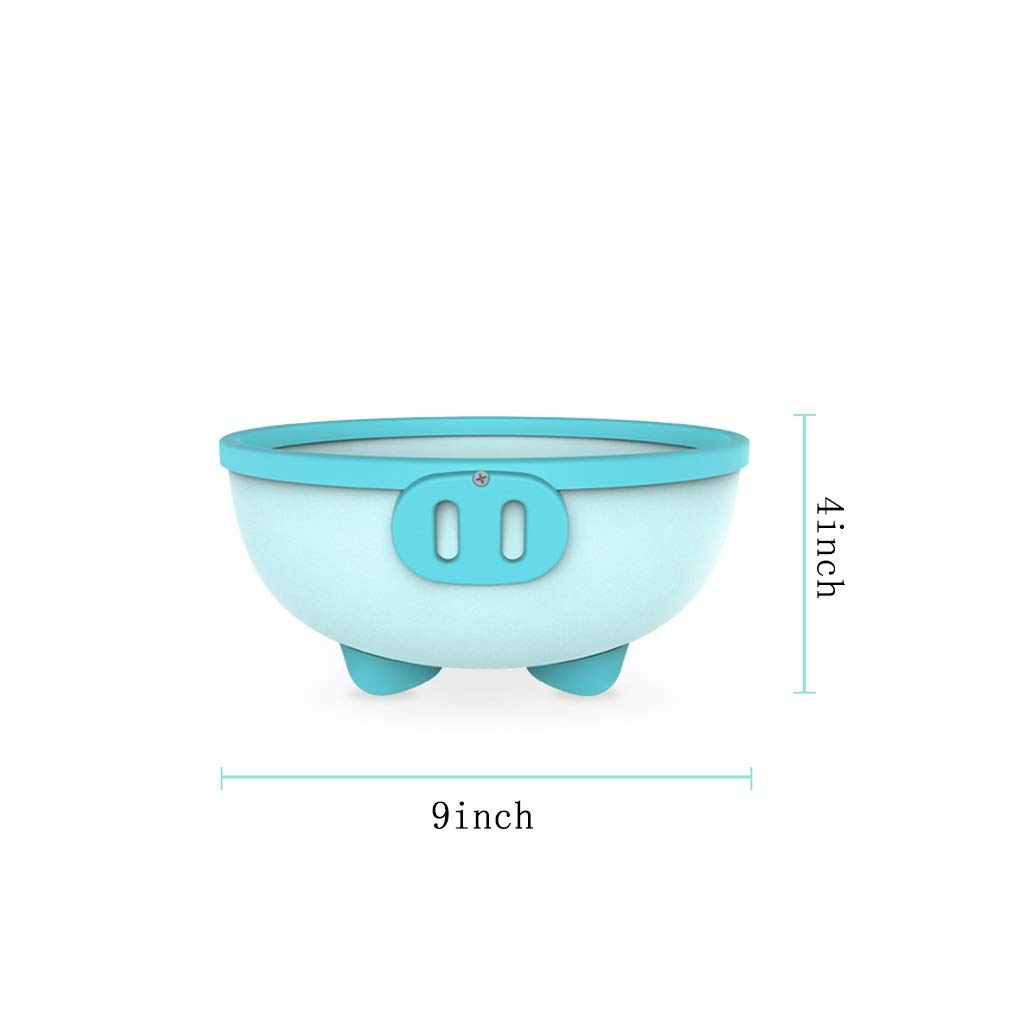 ZHAO ZHANQIANG Purpose Baby Plastic Wash Basin, Thickened Anti-Skid High Capacity Cartoon Baby Washing Basin, Lovely Piggy, Blue by ZHAO ZHANQIANG (Image #3)