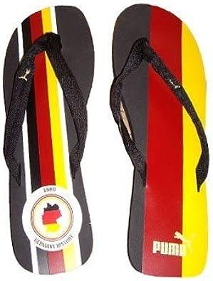 Puma Basic Flip Football- Chanclas, diseño de la Bandera de Alemania, Color Negro, Talla 46: Amazon.es: Zapatos y complementos