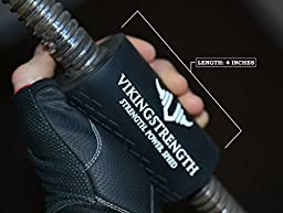 Vikingstrength -FAT GRIPS, Give any Bar, Dumbbell, Barbell or Machine FAT GRIPZ for Increased Muscle Growth - Get Bigger Forearms, Biceps, Triceps and Chest - THICK GRIPS equals Stronger Workouts