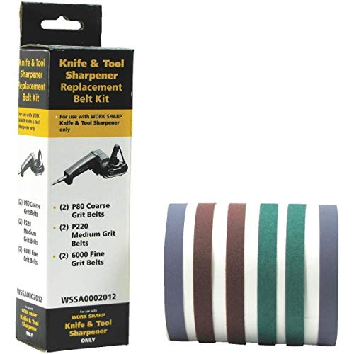 Work Sharp Replacement Belt Sharpening Kit Accessories - WSSA0002012 (Pack of 2) -