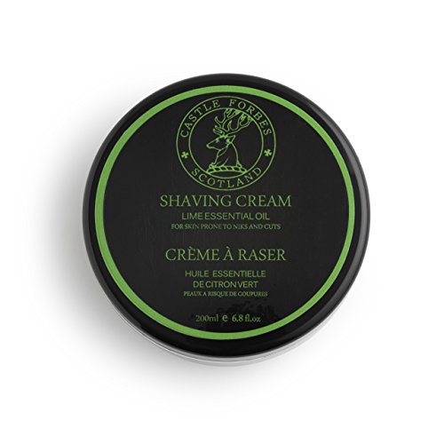 Castle Forbes Lime Oil Shaving Cream, 6.8 fl. oz.