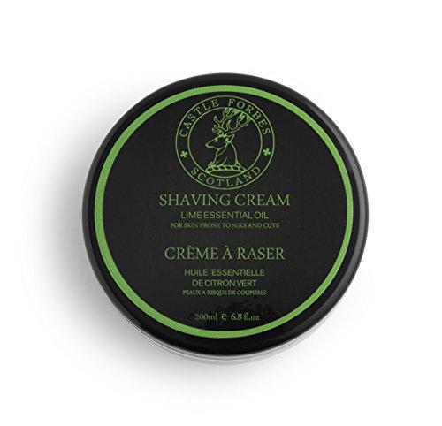 Soft Limes Cream Shaving - Castle Forbes Lime Oil Shaving Cream, 6.8 fl. oz.