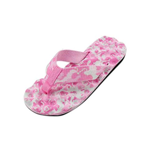 Women Flip Flops Slippers Daoroka Summer Light Weight Non-Slip Camouflage Flat Sandals Casual Soft Cute Beach Home Outdoor Shoes (US:8.5, Pink) (S Gladiator Box Pc)