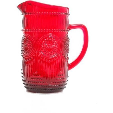 Adeline 54 oz Pitcher, Red (Montessori Glass Pitcher compare prices)