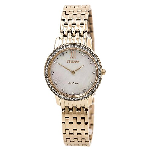 Citizen Watches Women's EX1483-50D Eco-Drive Rose Gold Tone Watch