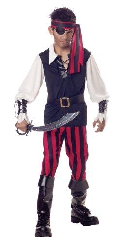 Cutthroat Pirate Costume - Child Large(10-12)