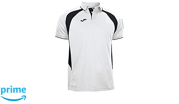 Joma - Polo Champion III Blanco-Negro m/c para Hombre: Amazon.es ...