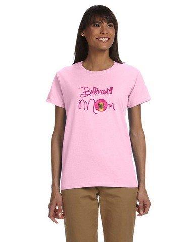 Caroline's Treasures SS4793PK-978-Parent Pink Bullmastiff Mom T-shirt Ladies, , multicolor